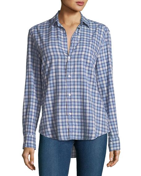 Eileen Button-Down Plaid Cotton Shirt