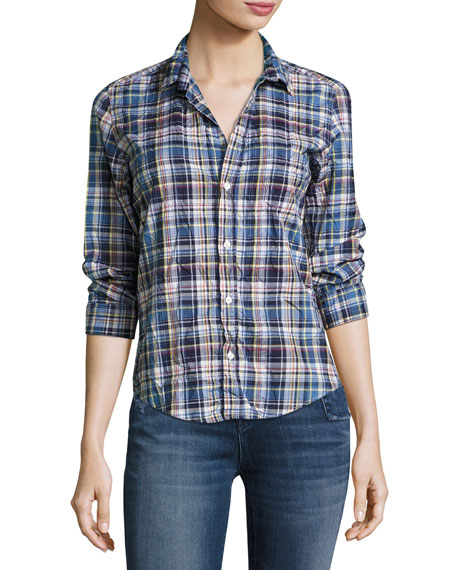Frank & Eileen Barry Washed Plaid Cotton Shirt,