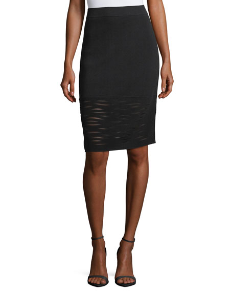 Aurora Textured Pencil Skirt, Petite