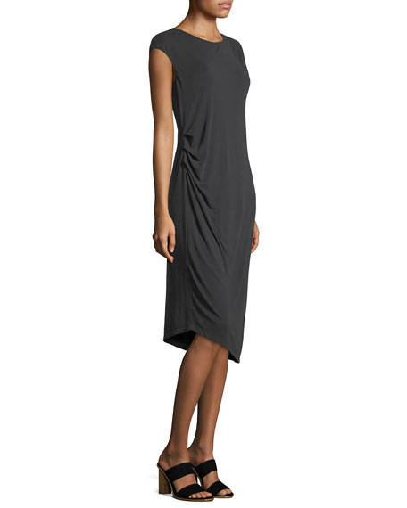 Cloud Nine Melange Knit Asymmetric Dress