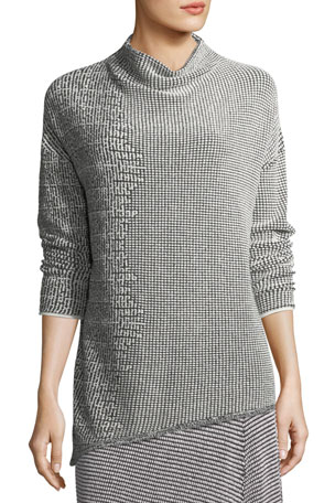 NIC+ZOE Frosted Asymmetric Top, Petite