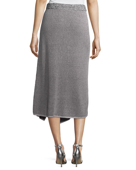 Frosted Fall Asymmetric Skirt, Plus Size