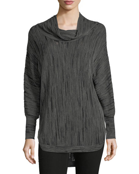 Cowl-Neck Knit Top, Plus Size