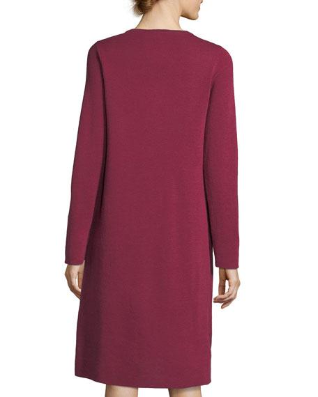 Fine Merino Interlock Knee-Length Dress, Plus Size