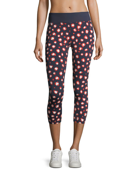 Tory Sport Spry Bengal Cropped Performance Leggings