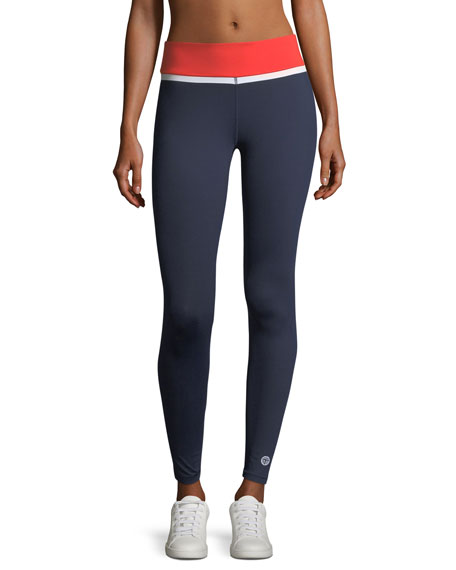 Tory Sport Colorblock Performance Leggings