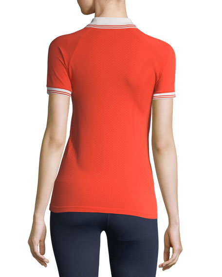 Seamless Short-Sleeve Polo Shirt