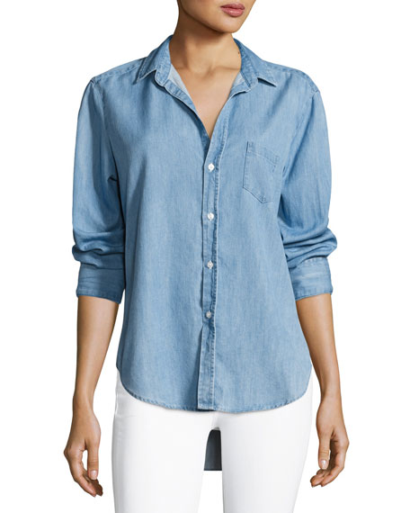 Frank & Eileen Eileen Long-Sleeve Denim Button-Down Shirt