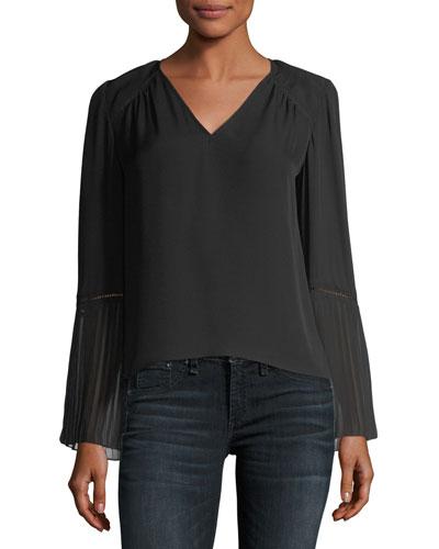 Sonia V-Neck Long-Sleeve Blouse