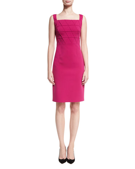 ph15 Origami Square-Neck Sleeveless Cocktail Dress