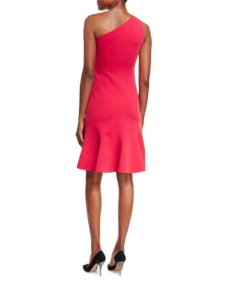 One-Shoulder Ponte Cocktail Dress