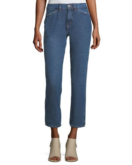 MiH Cult Mid-Rise Straight-Leg Ankle Jeans
