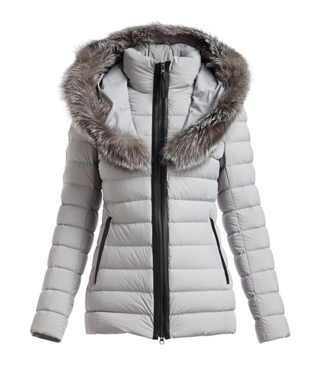 Kadalina Puffer Jacket with Fox Fur