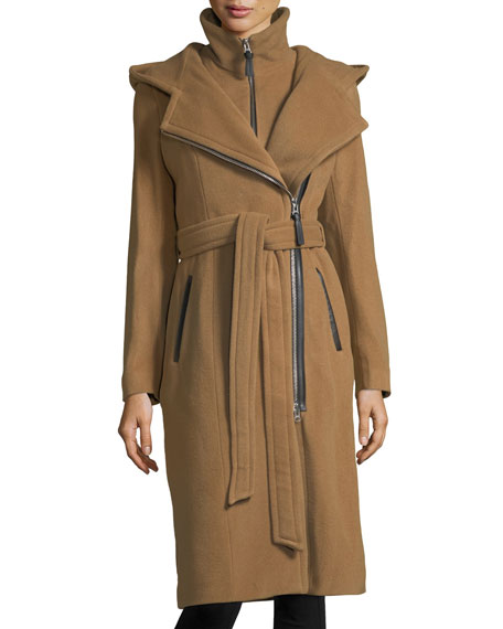 Mackage Janya Tailored Hooded Coat w/ Removable Bib