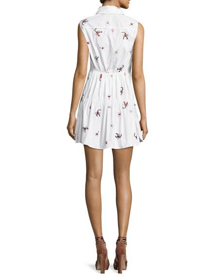 Scorpion Sleeveless Gathered Cotton Dress