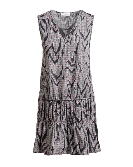 Desert Drop Ruffled Sleeveless Cotton Dress
