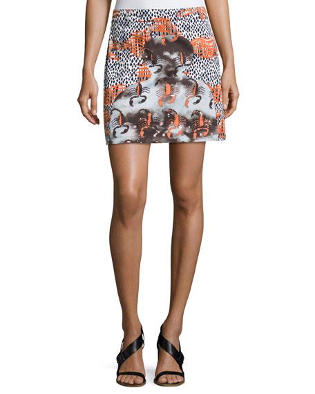 Western Mini Cotton Skirt