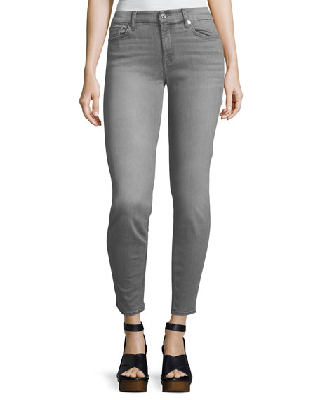 7 For All Mankind The Skinny Mid-Rise Faded