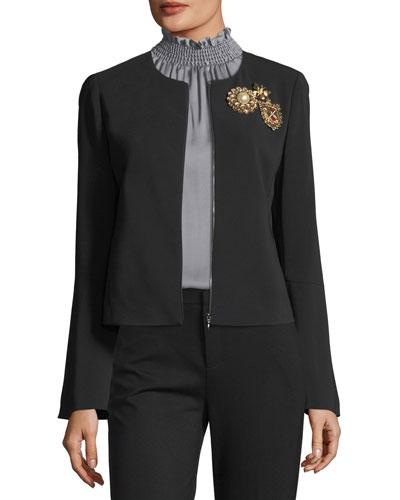 Briana Embellished Bell-Sleeve Jacket