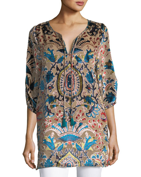 Joan Velvet Burnout Tunic