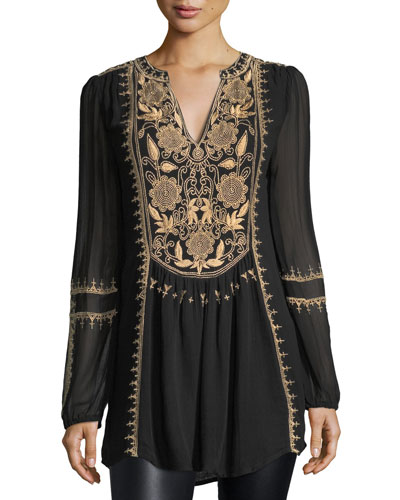 Lolita Embroidered Chiffon Tunic