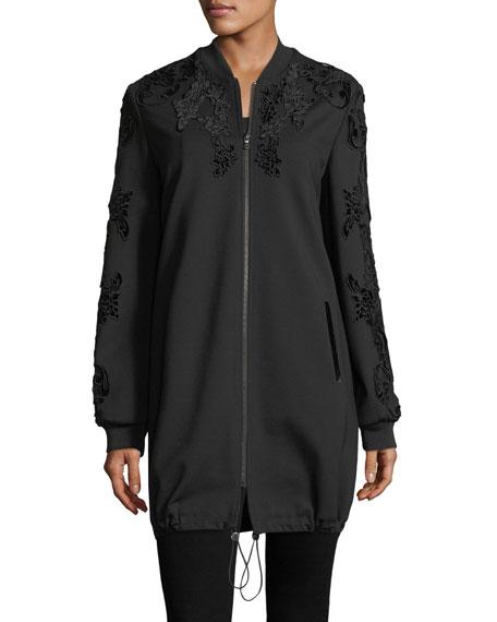 Gerri Knit Coat w/ Velvet Appliqué