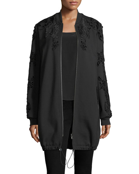 Kobi Halperin Gerri Knit Coat w/ Velvet Applique