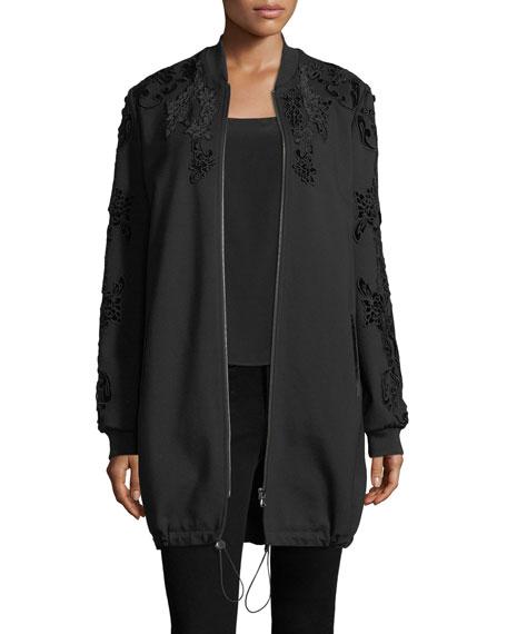 Kobi Halperin Gerri Knit Coat w/ Velvet Appliqué