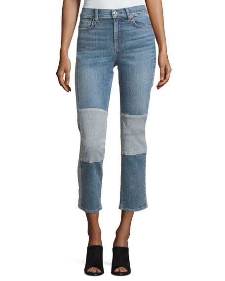7 For All Mankind Edie Straight-Leg Denim Jeans