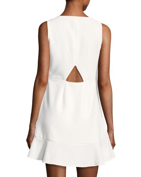 Tiffani Sleeveless A-Line Ponte Mini Dress