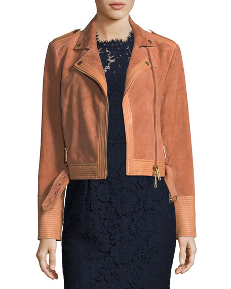 Rachel Zoe Hastings Suede Motorcycle Jacket