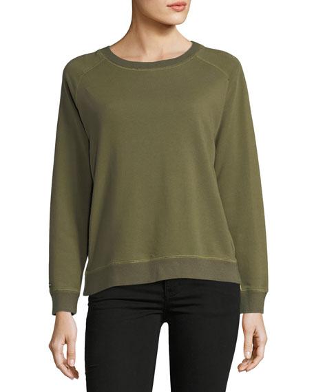 Etienne Marcel Natalie French Terry Side-Zip Sweatshirt w/