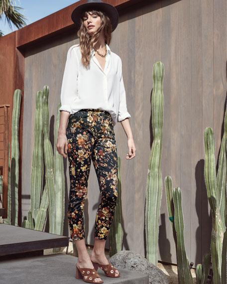 Autumn Dusk Floral-Print Skinny Ankle Jeans