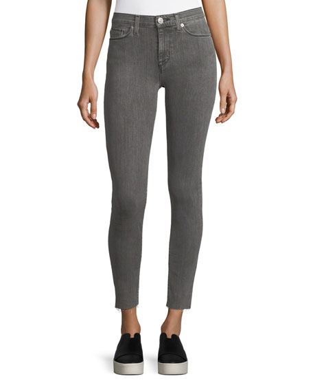 Hudson Nico Mid-Rise Ankle Super Skinny Jeans w/