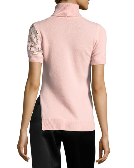 Juana Turtleneck Short-Sleeve Knit Sweater