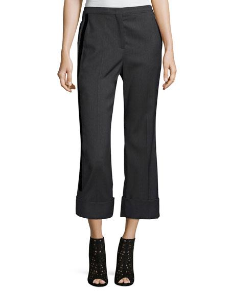 No. 21 Paula Straight-Leg Mid-Rise Wool Pants