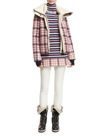 Gonna Houndstooth A-Line Mini Skirt