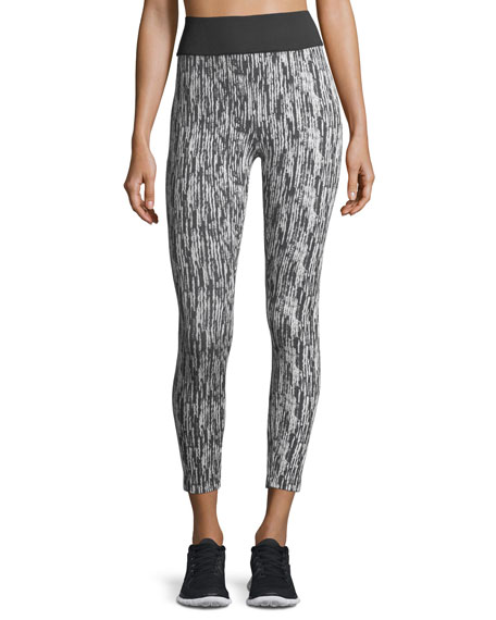 Koral Activewear Playoff Textured Ankle-Length Performance Leggings