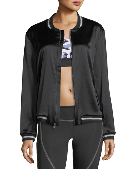 Koral Activewear Base Satin Bomber Jacket