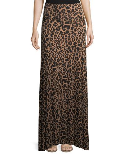 Animal-Print Long Full Convertible Skirt
