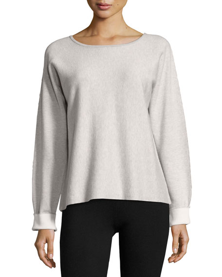 ATM Anthony Thomas Melillo Long-Sleeve Round-Neck Cashmere Blend