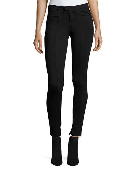ATM Anthony Thomas Melillo Ponte Mid-Rise Moto Pants