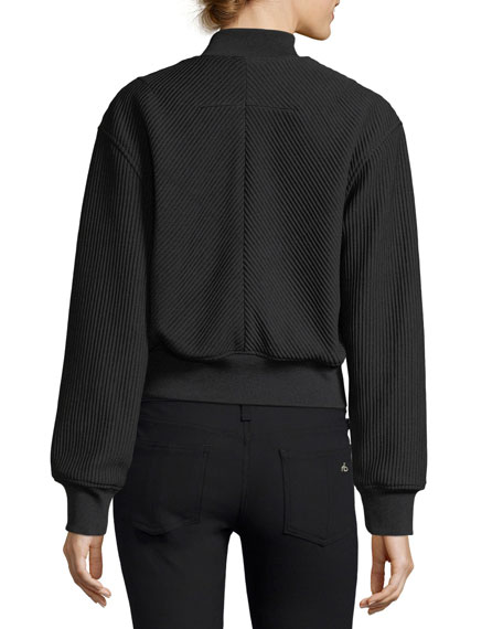 Textured Bomber Track Jacket