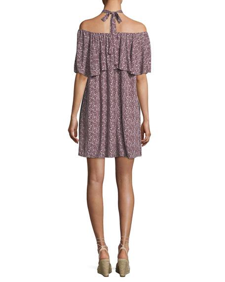Havasu Rose-Printed Halter Mini Dress