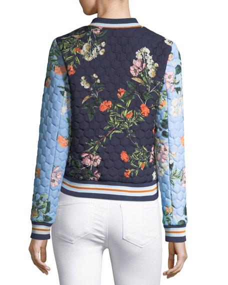 Herve Floral-Printed Quilted Bomber Jacket
