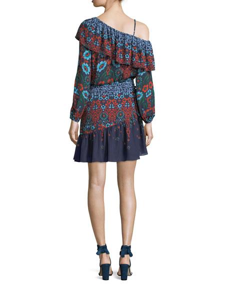 Clarisse Floral-Printed Chiffon Dress