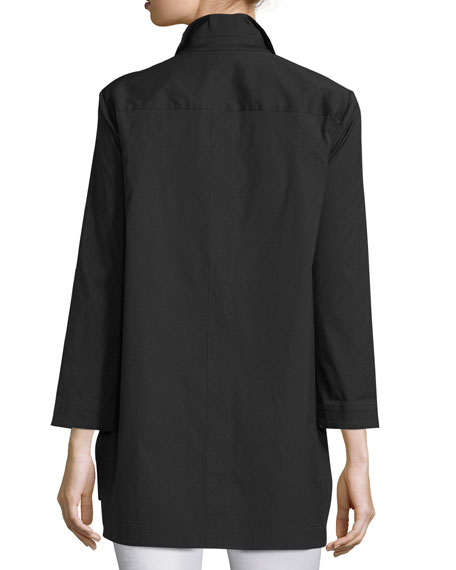 Marla Placket-Front Blouse, Plus Size