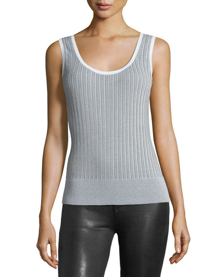 rag & bone/JEAN Lizzie Scoop-Neck Ribbed Cotton Tank