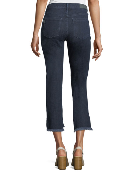 Step-Hem Straight Cropped Jeans