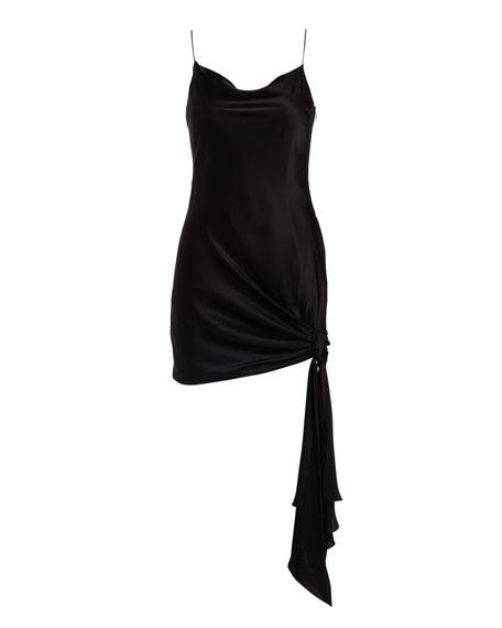 Ryder Sleeveless Tie-Hem Satin Dress